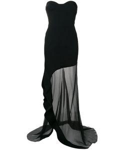 ESTEBAN CORTAZAR | Strapless Asymmetric Ruffle Dress Women