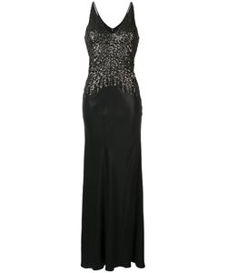 Narciso Rodriguez | Embellished V-Neck Gown Size