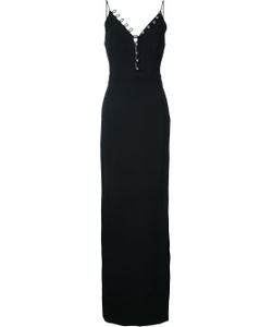 David Koma | Buttoned V-Neck Long Dress