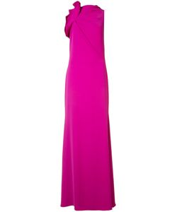 Badgley Mischka | Draped Detail Flared Gown