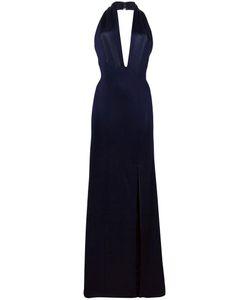 GALVAN | Flyover Keyhole Halterneck Dress 36 Viscose/Polyamide/Spandex/Elastane