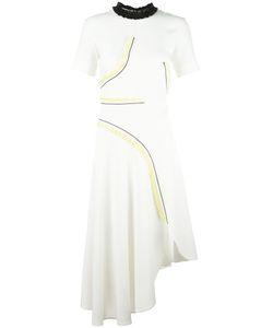 Cedric Charlier | Cédric Charlier Ruffled Asymmetric Dress 44 Polyester/Rayon
