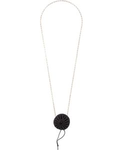 MA+ | Pleated Pendant Long Necklace Adult Unisex