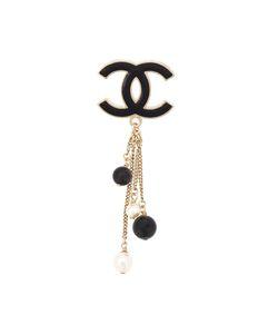 Chanel Vintage   Брошь С Подвесками И Логотипом Cc