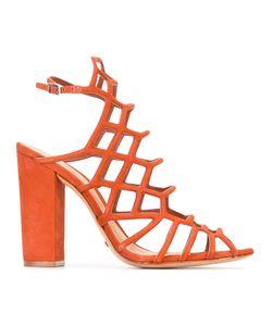 SCHUTZ   Cage Style Heeled Sandals 37