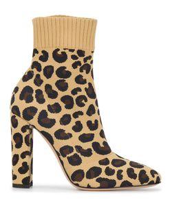 Gianvito Rossi | Трикотажные Ботинки Sauvage 85 С Леопардовым Принтом