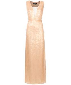 Paule Ka   Woven Plunge Column Dress