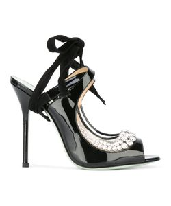 GIANNICO | Margot Sandals 39 Patent Leather/Leather/Glass