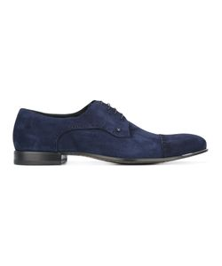 Fabi | Stitching Detail Derbies 43.5 Calf Suede/Leather/Rubber