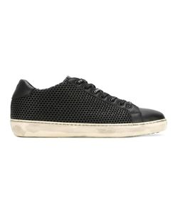 Leather Crown | Perforated Lace-Up Sneakers 44 Leather/Rubber