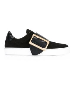 Burberry | Contrast Buckled Trainers 37 Leather/Rubber