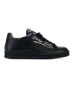 Philipp Plein | Snake Effect Logo Plaque Sneakers