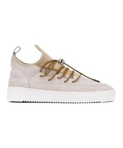 Filling Pieces | Suede-Panelled Sneakers Size 41 Leather/Rubber/Metal Other