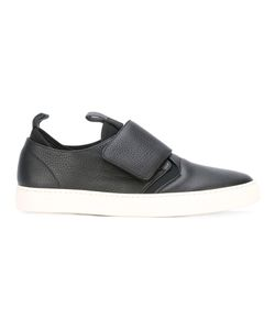 Z Zegna | Top Strap Slip-On Sneakers 6 Cotton/Calf