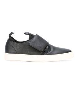 Z Zegna | Top Strap Slip-On Sneakers 6 Cotton/Calf