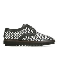 Dolce & Gabbana | Woven Derby Shoes 41 Leather/Rubber