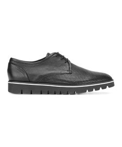 Baldinini | Perforated Platform Derbies 46 Calf Leather/Leather/Rubber