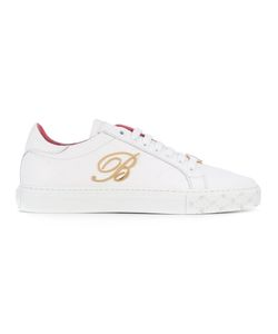 Blumarine   Embellished B Lace-Up Sneakers