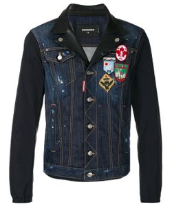 Dsquared2 | Denim And Leather Patch Jacket