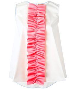 PASKAL | Ruffle Detail Sleeveless Top Small Polyester/Cotton/Spandex/Elastane