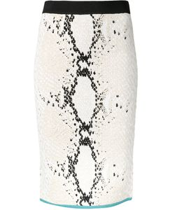 Theatre Products   Snakeskin Print Fitted Skirt Polyester/Rayon