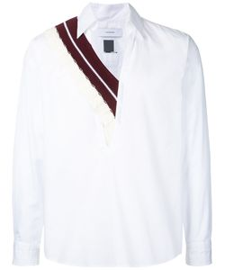 FACETASM   Knit-Trimmed Poplin Shirt One
