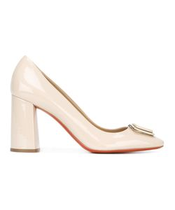 Baldinini | Front Buckle Pumps 38.5 Patent Leather/Leather/Rubber