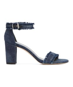 Stuart Weitzman | Frayed Sandals 5.5 Cotton/Leather