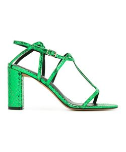 Jean-Michel Cazabat | Snakeskin Effect Sandals 38.5 Calf Leather/Leather
