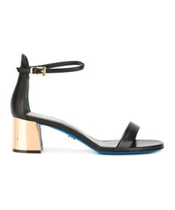 Loriblu | Contrast Heel Sandals 39 Calf Leather/Leather