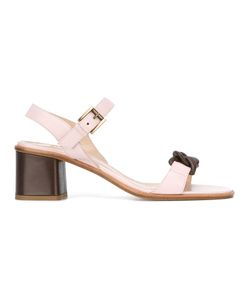Fratelli Rossetti | Sandals With Chain Detailing 38.5 Leather