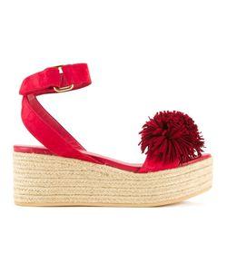 Muveil | Pom Pom Platform Sandals Size