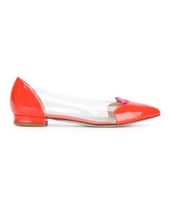 GIANNICO | Clear Panel Ballerinas Size 39