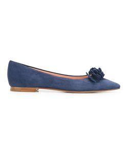 Unützer | Pointed Toe Ballerinas 39 Calf Suede/Leather