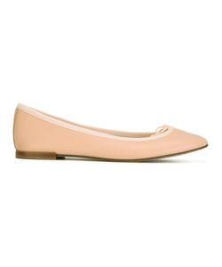Repetto | Lace Trim Ballerinas 41 Leather