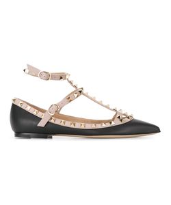 Valentino | Garavani Rockstud Ballerinas 35.5 Leather/Metal