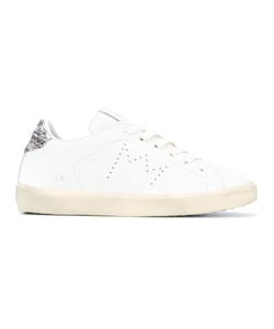 Leather Crown | Contrasting Heel Counter Sneakers 37 Leather/Rubber