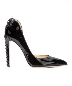 CHLOE GOSSELIN | Lace Detail Stiletto Pumps Leather/Patent