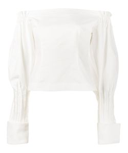JACQUEMUS | Off-Shoulder Puff Sleeve Blouse 34 Cotton
