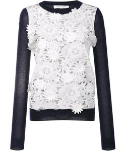 Prabal Gurung | Lace Front Jumper Large Polyester/Cashmere