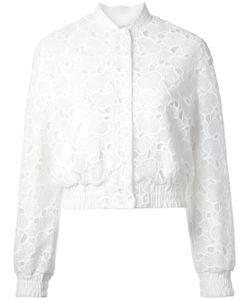 Huishan Zhang | Macrame Lace Bomber Jacket