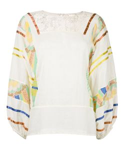 Erika Cavallini | Printed Sleeves Blouse