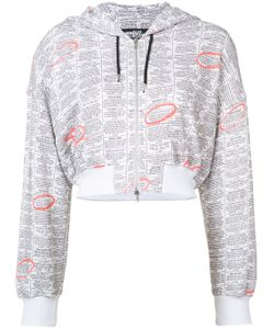 Jeremy Scott | Zip Up Printed Hoodie