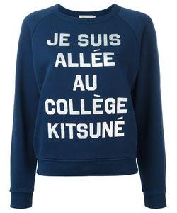 Maison Kitsune   Maison Kitsuné Slogan Sweatshirt Medium Cotton
