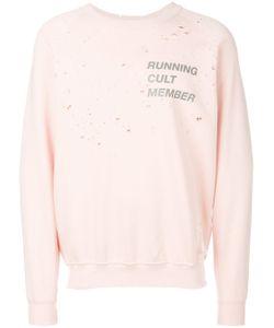 SATISFY | Distressed Printed Sweatshirt