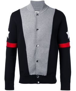 Givenchy | Stars And Stripe Knitted Cardigan Small Spandex/Elastane/Polyamide/Cotton