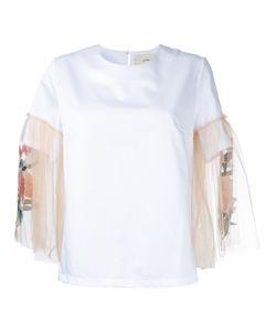 Elaidi | Contrast Sleeve Blouse Size 44