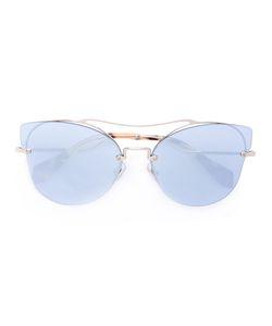 Miu Miu Eyewear   Солнцезащитные Очки-Авиаторы В Оправе Кошачий Глаз