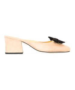 DORATEYMUR | Bow Backless Mules 40 Suede/Leather
