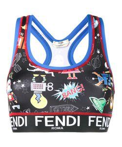 Fendi   Printed Sports Crop Top Size 42
